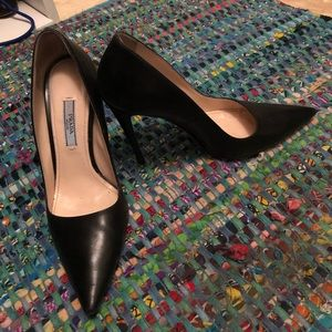 Prada classic pumps, 4 inches, black leather